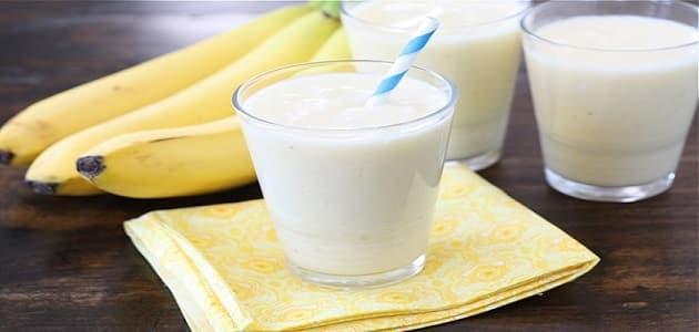 فوائد الموز باللبن لزيادة الوزن والقوة